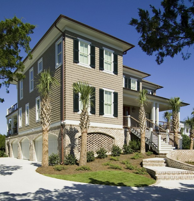 Residences in DeBordieu Colony, Georgetown, SC beach-style-exterior