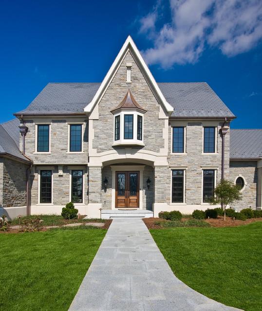 Elegant stone exterior home photo in Philadelphia