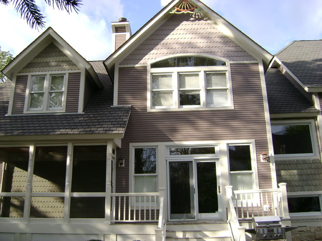 Residential Exterior - Victorian Style Repaint - During - Traditional ...