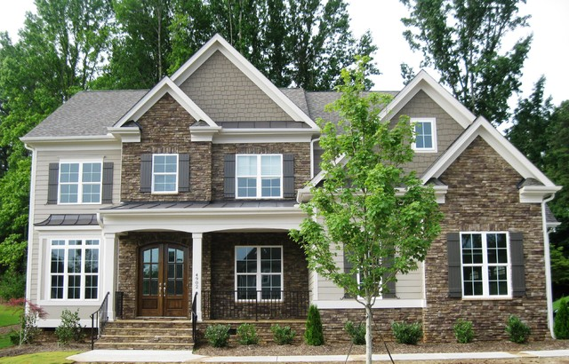 Residential Homes Exterior Raleigh By Custom Brick