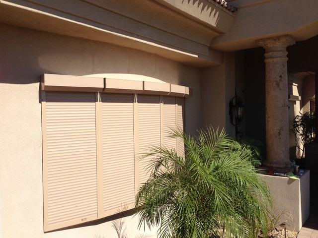 Residential Motorized Rolling Security Shutters Modern Exterior Phoenix By Roll A Shield