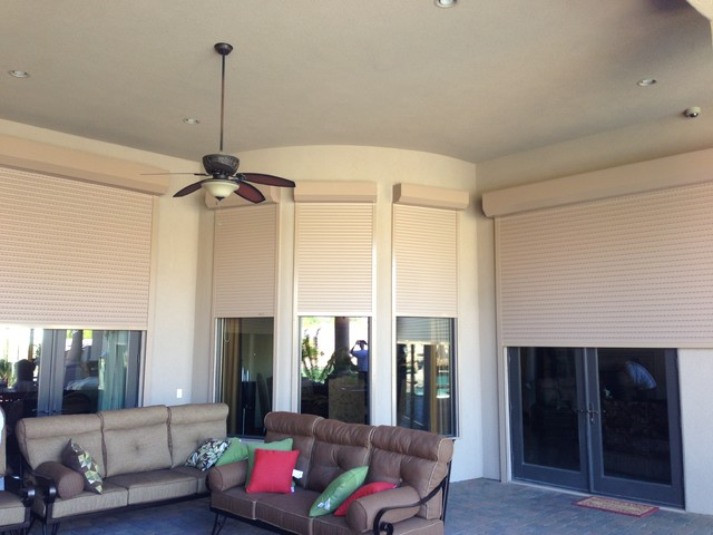 Residential Motorized Rolling Security Shutters - Modern ...