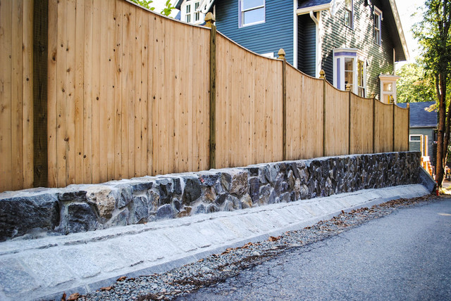 Residential retaining wall contemporary exterior - Natural stone wall solutions ...