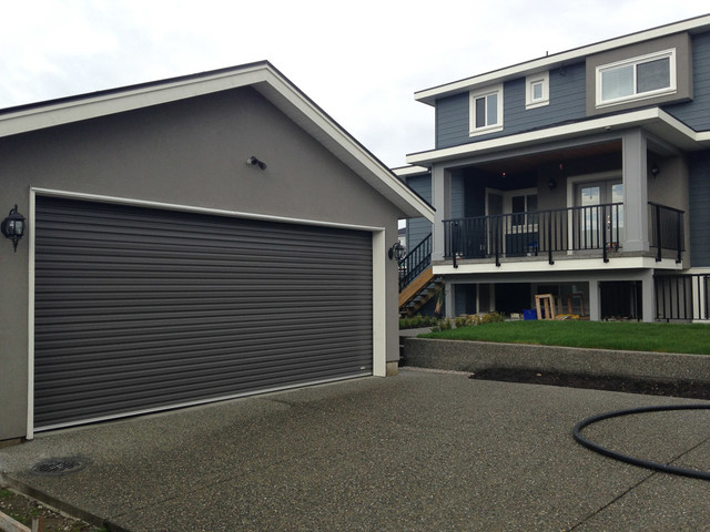 minimalist exterior home photo in vancouver - Residential Roll Up Garage Doors