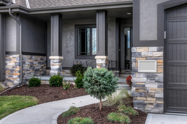 residential stone exteriors transitional exterior omaha by fireplace stone patio