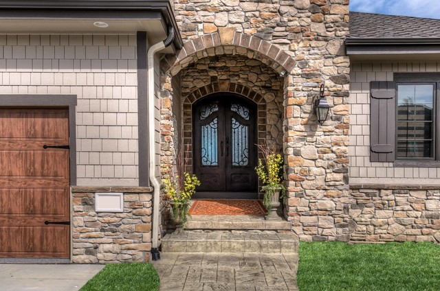 residential stone exteriors traditional exterior omaha by fireplace stone patio