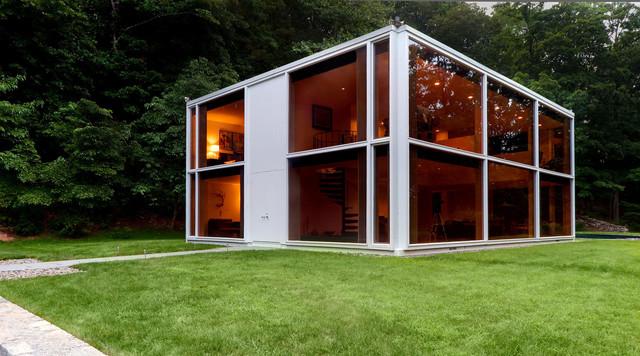 Restored 1969 modern glass house modern exterior