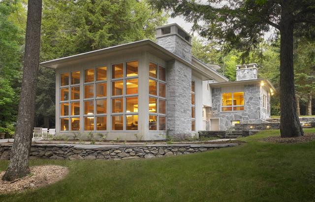 Restored american international style home modern häuser