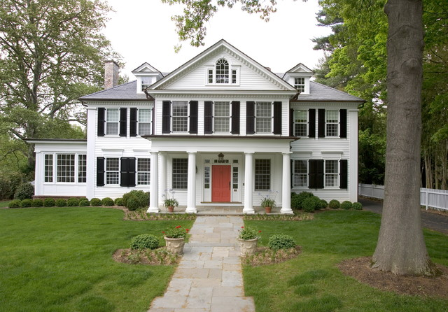 Red Eating Club Traditional Exterior Other By