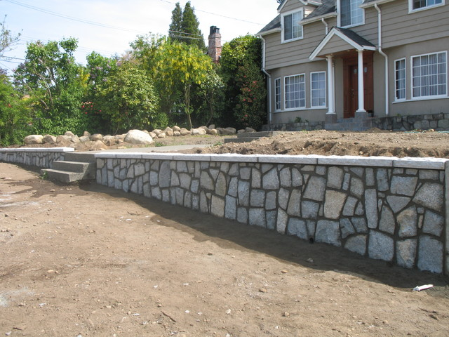 Retaining Walls Traditional Exterior Vancouver By Cabana Masonry Ltd