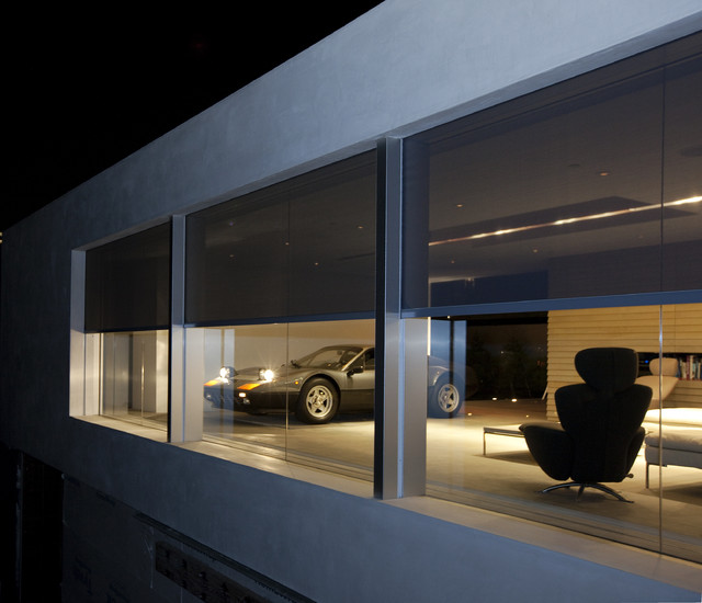 Retractable screens at The Ultimate Garage contemporary-garage-and-shed