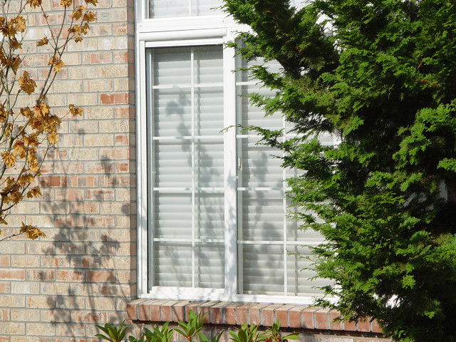 Retractable Window Screens Traditional Exterior