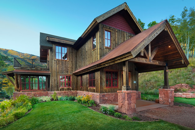 Reudi Retreat Rustic Exterior Denver By Axis