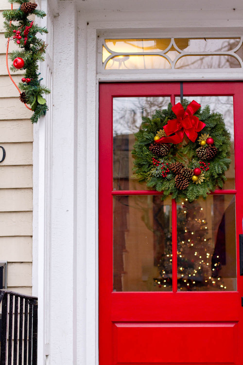 Christmas Decorating Front Doors Town Amp Country Living