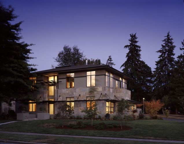 Rhodes architecture light contemporary exterior seattle for Architectural medallions exterior