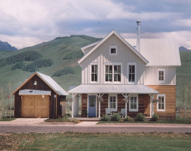 Rhubarb Crested Butte Farmhouse Exterior denver by Coburn Development