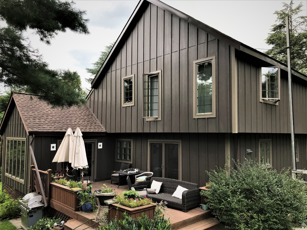 Rich Espresso James Hardie Vertical Siding Rustic Exterior By Global Home Improvement