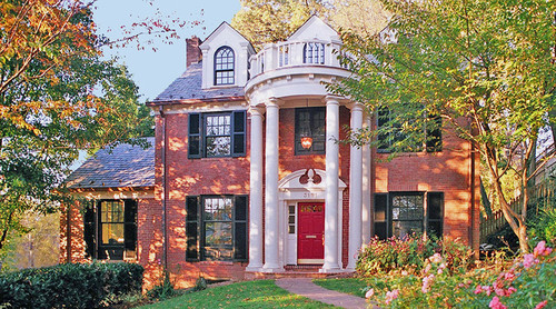 door color for red brick house