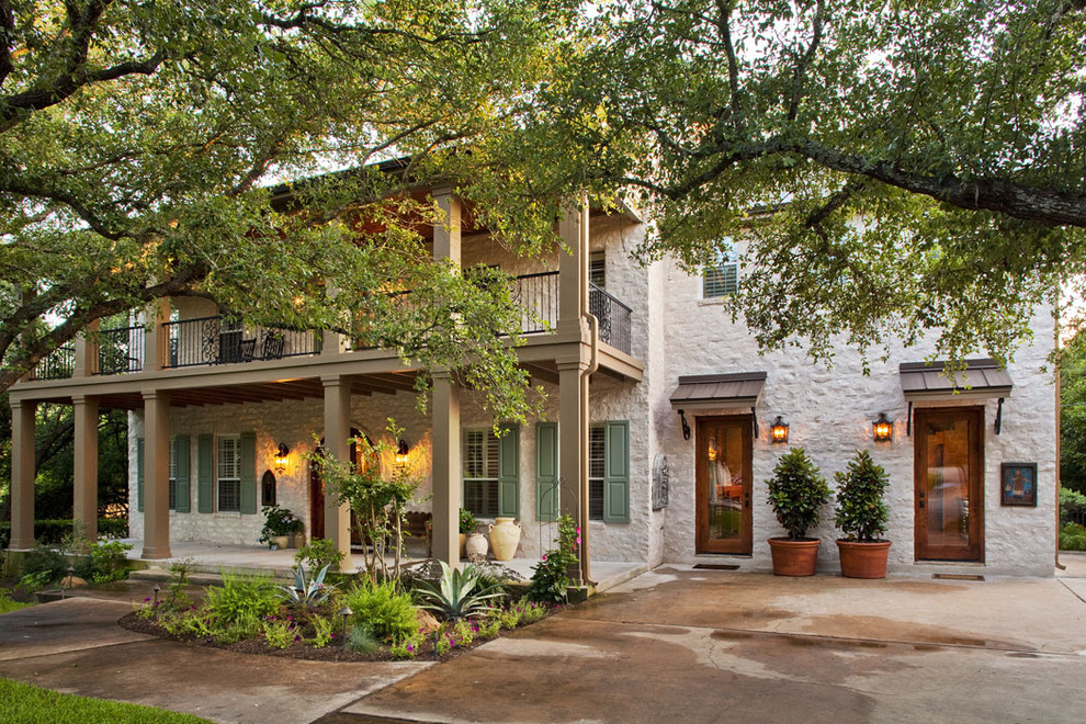 Elegant two-story exterior home photo in Austin