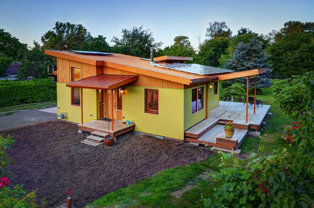 river road small house - contemporary - exterior - other -six