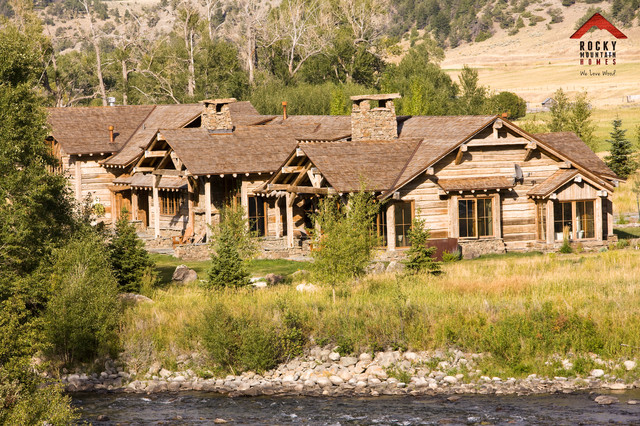 Riverside Rustic Rocky Mountain Homes Rustic