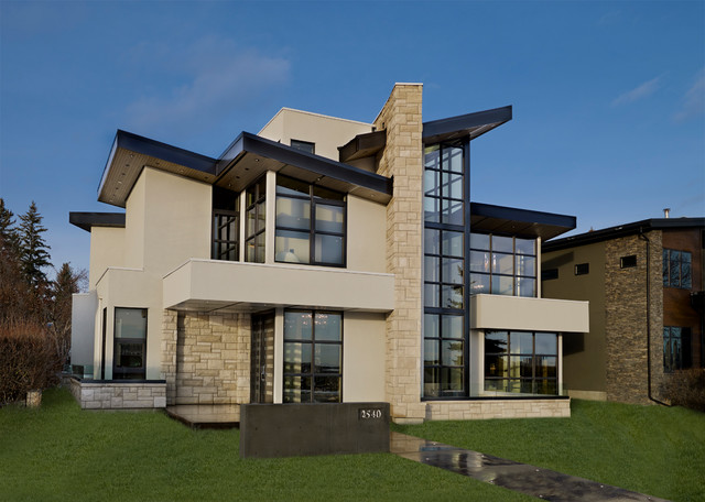 Riverview custom homes showhome contemporary exterior for Custom homes photos