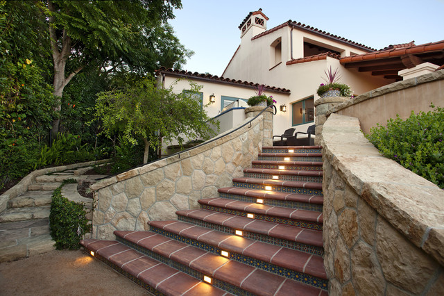 Riviera outdoor living steps mediterranean exterior for Exterior stairs