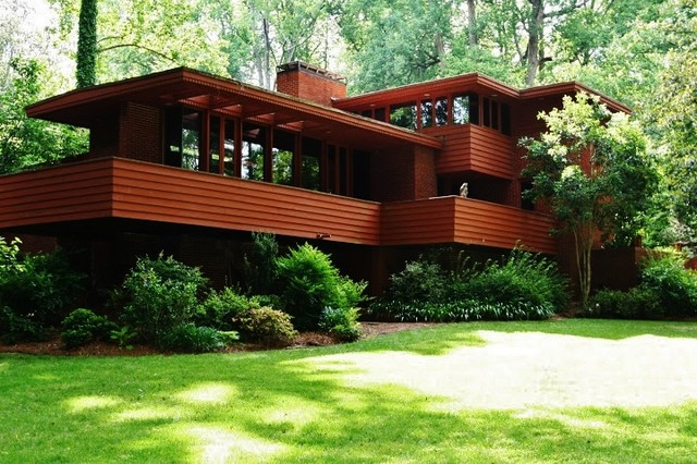 Robert Green Frank Lloyd Wright House Modern Exterior Atlanta By Design2sell Interiors
