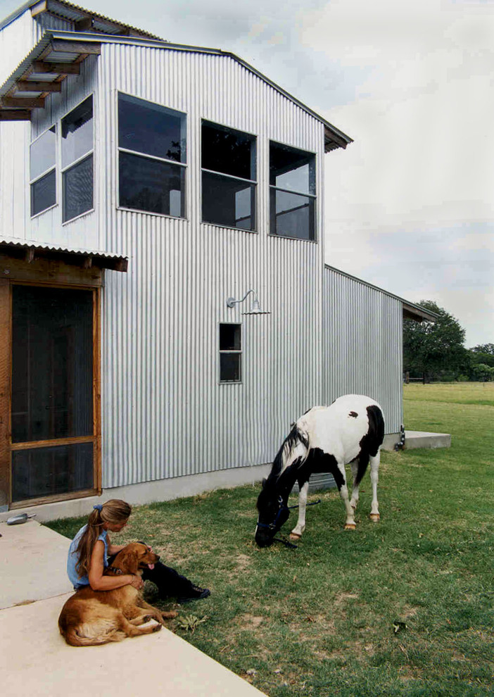 Example of an urban exterior home design in Austin