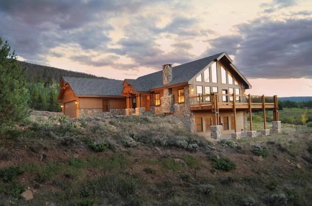 Rocky Mountain Home Builders Rustic Exterior Denver
