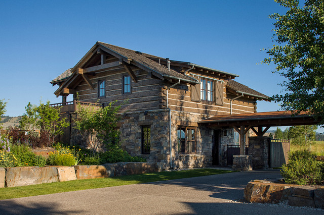 rocky mountain homes mountain timberframe rustic exterior other by rocky mountain homes