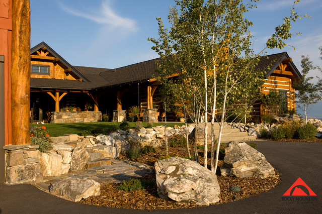 Rocky mountain log homes a place to gather rustic for Rocky mountain home builders