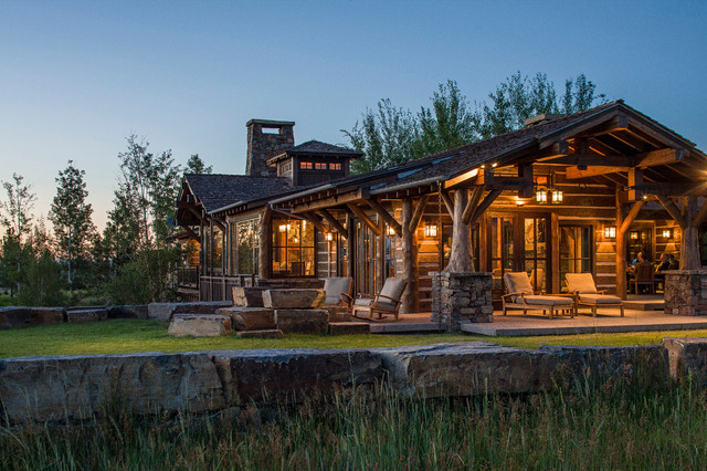 Rocky Mountain Log Homes Timber Frame In Twilight