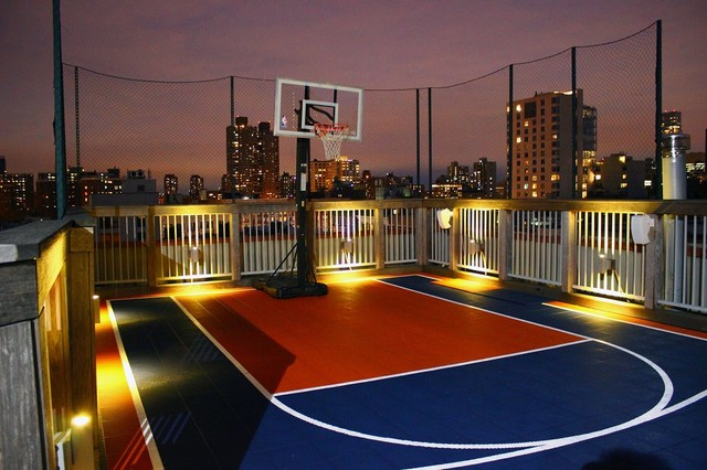 Rooftop Basketball Court Contemporary Exterior New