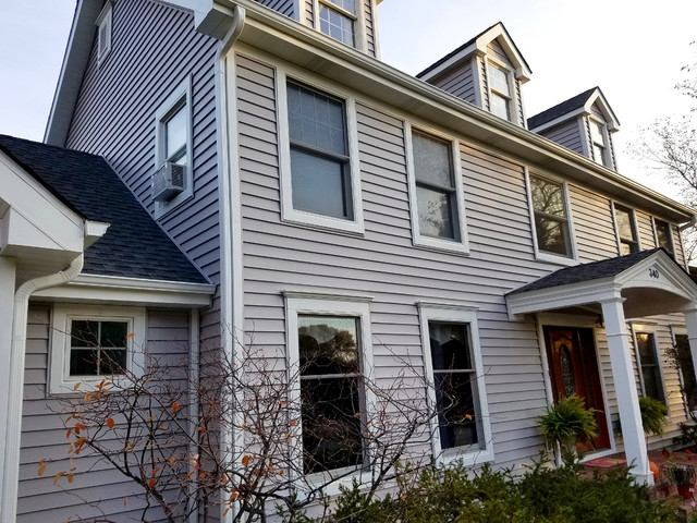 Roselle Il Colonial Vinyl Siding Remodel Traditional