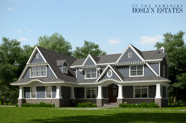 Roslyn Estates traditional-exterior