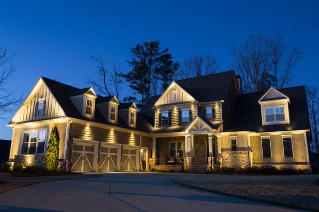 Landscape lighting canton ga : Roswell ga house project craftsman exterior atlanta