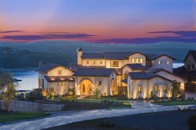 Rough Hollow Front Elevation Mediterranean Exterior