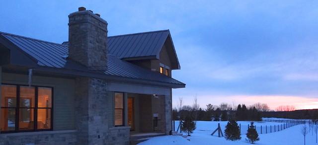 Rural home contemporary-exterior