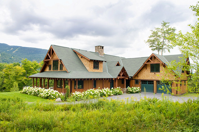 Rustic Adirondack Style Home Rustic Exterior