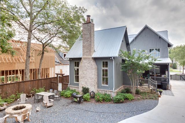 Rustic Atlanta Farmhouse Exterior