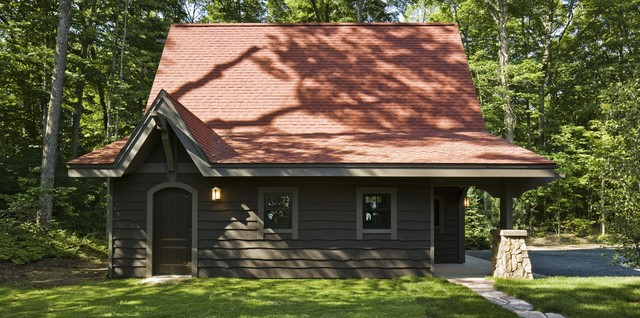 Rustic Cabin Exterior Minneapolis By Nancekivell Home Planning amp Design