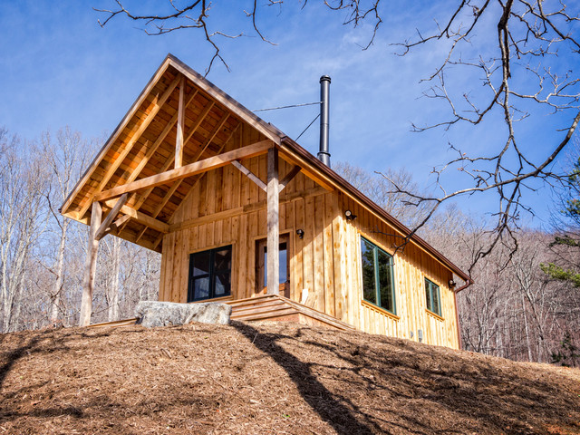 Rustic Cabin With Hemlock Board And Batten Siding