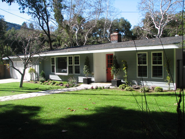 Rustic Cottage Renovation Before And After Calabasas Ca Traditional Exterior Los Angeles