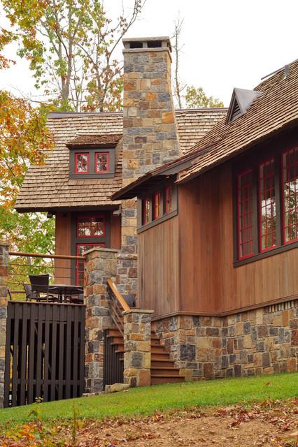 Day exterior rustic exterior birmingham by jeffrey - Rustic home exterior color schemes ...