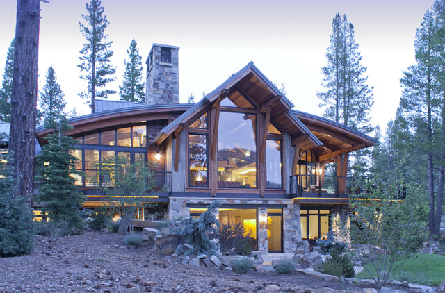 North lake tahoe residence rustic exterior san for Tahoe architects