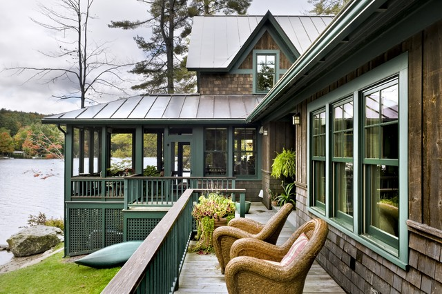 lake house rustic exterior burlington by smith vansant
