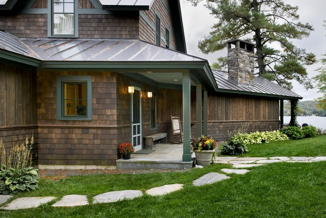Lake House Rustic Exterior Burlington By Smith