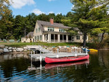 beach style exterior Houzz Tour: A Peaceful Lakehouse Rises From the Rubble (14 photos)