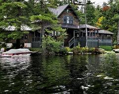 Lake House rustic-exterior